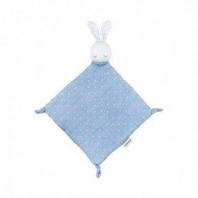 Accueil Nattou doudou Nattou Lapin Bleu 100% Coton Pure Plat