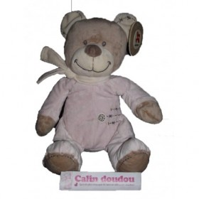 Accueil Nicotoy Doudou Nicotoy Ours Rose 30cms Cuddles Pantin