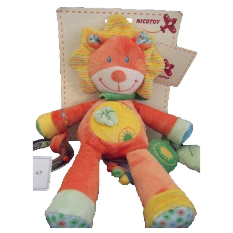 Accueil Nicotoy Doudou Nicotoy Lion Jaune jaune feuille Hochet