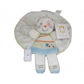 Accueil Nicotoy Doudou Nicotoy Chat Bleu rond voiture blanc plat