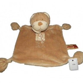 Accueil Nicotoy Doudou Nicotoy Ours Beige My bear 4 noeuds plat