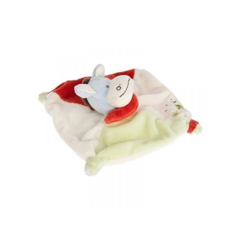 Accueil Babynat doudou Babynat Ane Rouge étoile blanc vert BN502 Plat