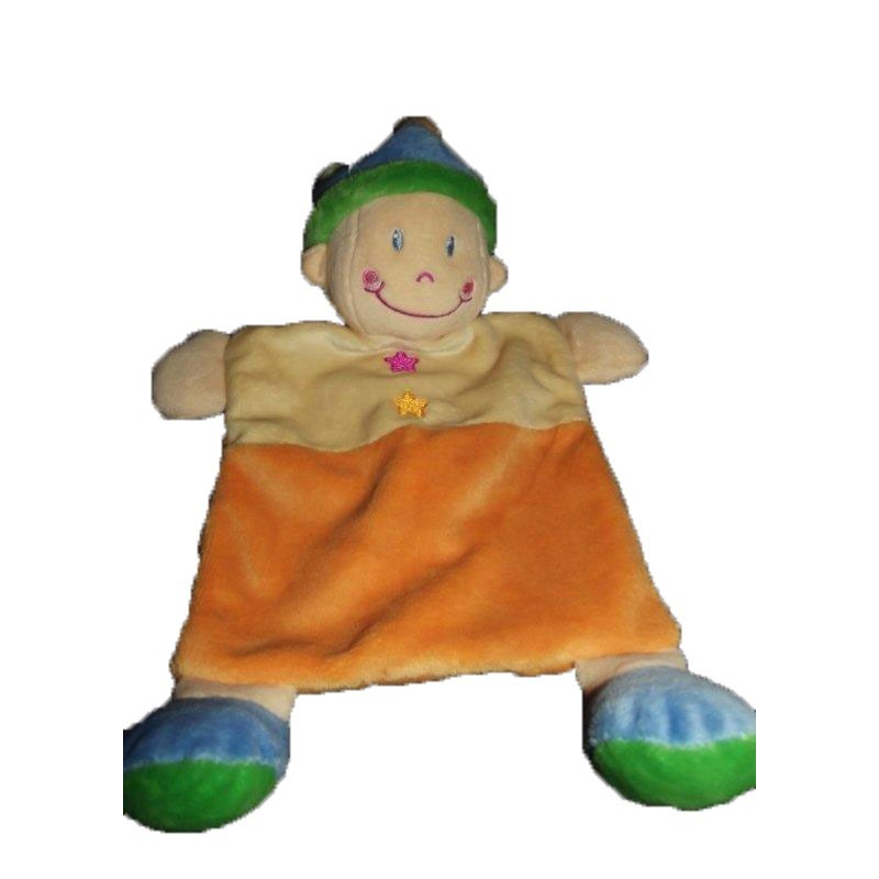 Accueil Nicotoy Doudou Nicotoy Clown Orange  plat