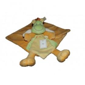 Accueil Nicotoy Doudou Nicotoy Dragon Orange dinosaure jaune vert plat