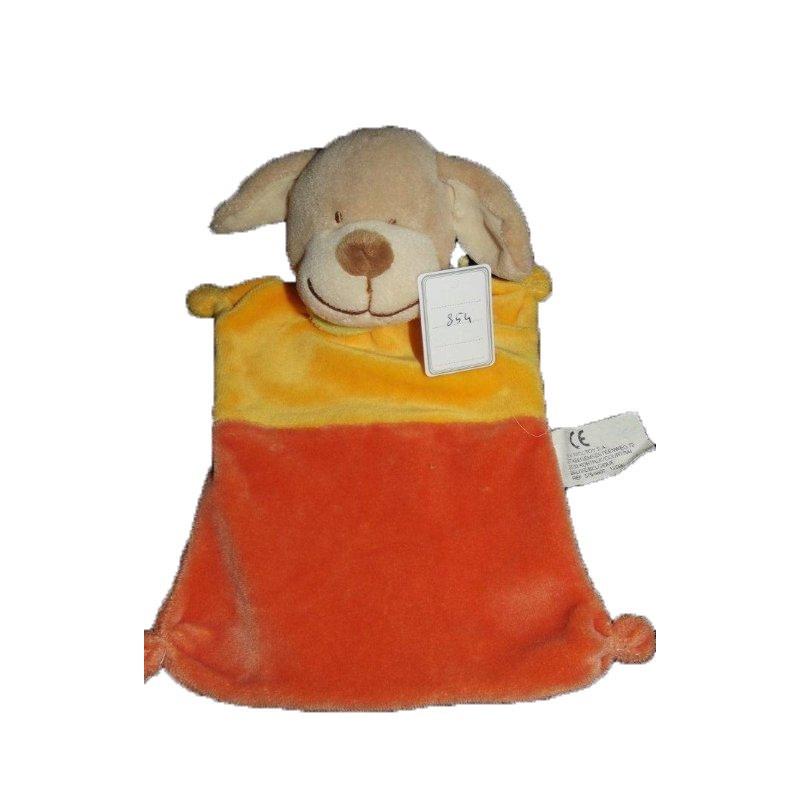 Accueil Nicotoy Doudou Nicotoy Chien Jaune orange plat