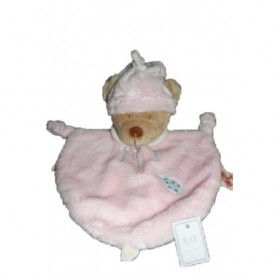 Accueil Nicotoy Doudou Nicotoy Ours Rose  plat