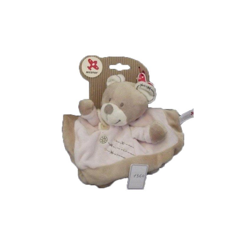 Accueil Nicotoy Doudou Nicotoy Ours Rose Cuddles plat