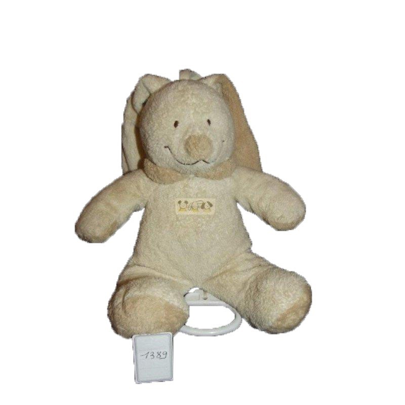 Accueil Nicotoy Doudou Nicotoy Lapin Beige  Musical