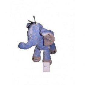 Accueil Nicotoy Doudou Nicotoy Elephant Bleu gris  Pantin