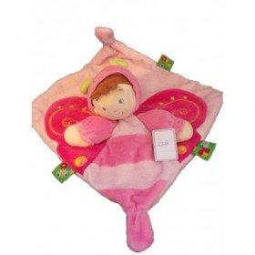 Accueil Nicotoy Doudou Nicotoy Coccinelle Rose fille deguise en papillon  plat