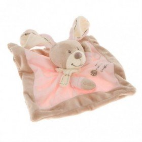 Accueil Nicotoy Doudou Nicotoy Lapin Rose Cuddles plat