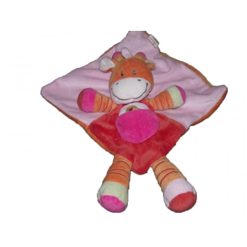 Accueil Nicotoy Doudou Nicotoy Girafe Orange rose poussin plat