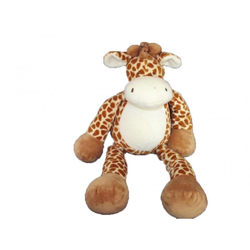 Accueil Nicotoy Doudou Nicotoy Girafe Marron bille sous les fesses 41cms Pantin