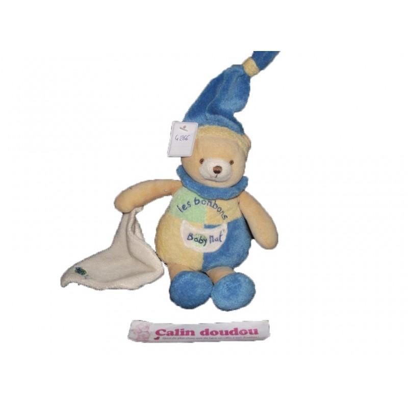 Accueil Babynat doudou Babynat Ours Bleu Les Bonbons Pantin