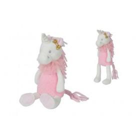 Accueil Nicotoy Doudou Nicotoy Licorne Blanc Unicorn Rose 33cms Licorne Pantin