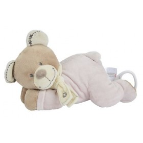 Accueil Nicotoy doudou Nicotoy Ours Rose Cuddles Musical