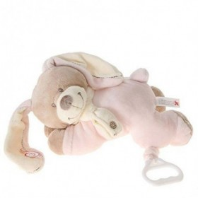 Accueil Nicotoy doudou Nicotoy Lapin Rose Cuddles Musical