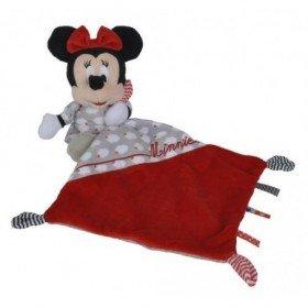 Accueil Nicotoy doudou Disney Souris Rouge mouchoir Gris Nuage Rouge Minnie Pantin