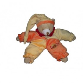 Accueil Babynat doudou Babynat Ours Orange bonnet jaune Pantin