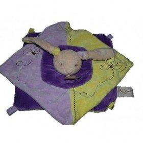 Accueil Babynat doudou Babynat Lapin Violet spirale rouge Spirale Plat