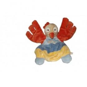 Accueil Noukies Doudou Noukies Oiseau Orange rayure jaune bleu Sisi Marionnette