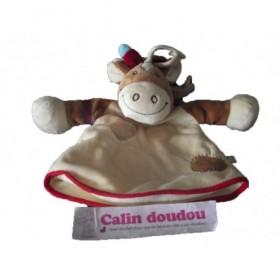 Accueil Noukies Doudou Noukies Cheval Beige indien marron beige Paco Marionnette