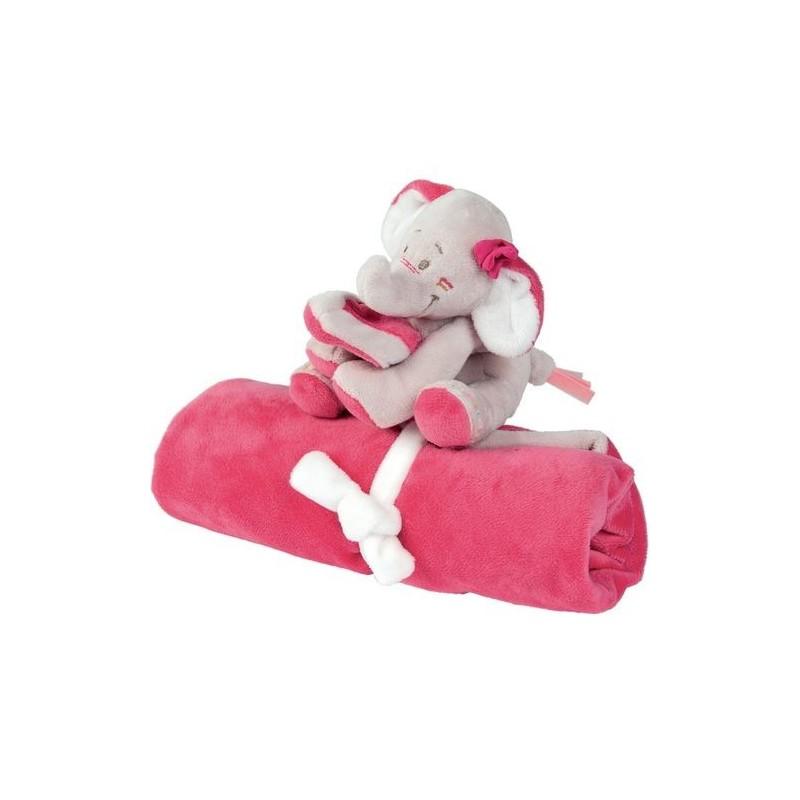 Accueil Noukies doudou Noukies Elephant Rose Anna Couverture