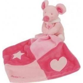 Accueil Babynat doudou Babynat Souris Rose BN564 douce nuit mouchoir etoile Les Luminescents Pantin