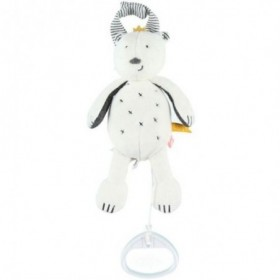 Accueil Noukies doudou Noukies Ours Blanc Mini 20cms Timeless Musical