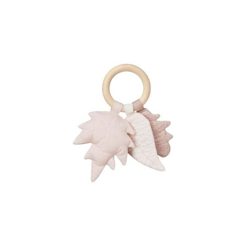 Accueil Camcam doudou CamCam Feuille Rose Mix Wood Ring Hochet