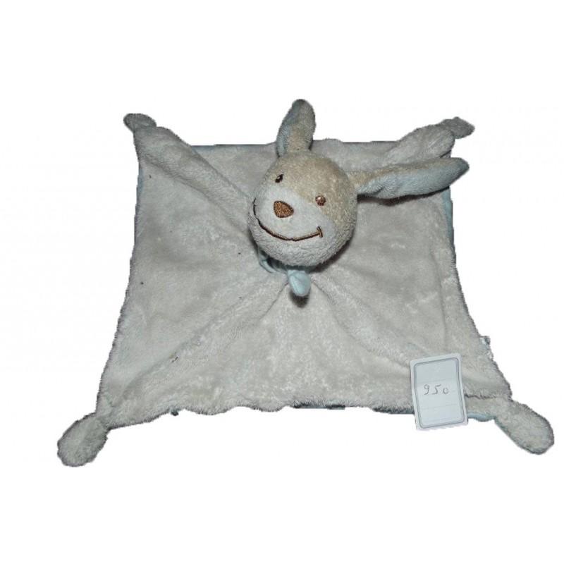 Accueil Obaibi / Okaidi Doudou Obaibi / Okaidi Lapin Blanc (blanc delave en gris) Plat