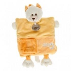Accueil Babynat doudou Babynat Chat Jaune C comme BN899 Alphabet Marionnette