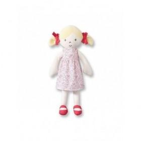 Accueil Obaibi / Okaidi doudou Obaibi / Okaidi Poupee Blonde Robe pois rose Velours Robe amovible 30cms Pantin