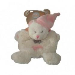 Accueil Babynat doudou Babynat Ours Rose Bonnet rose pink BN782 Les Calins Plat