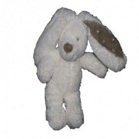 Accueil Pommette Doudou Pommette Lapin Blanc oreilles grises Pantin