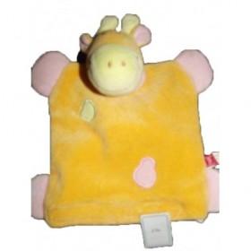 Accueil Tex Doudou Tex Girafe Jaune vert et rose  Marionnette