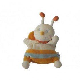 Accueil Tex Doudou Tex Papillon Orange abeille rayure blanc bleu  plat