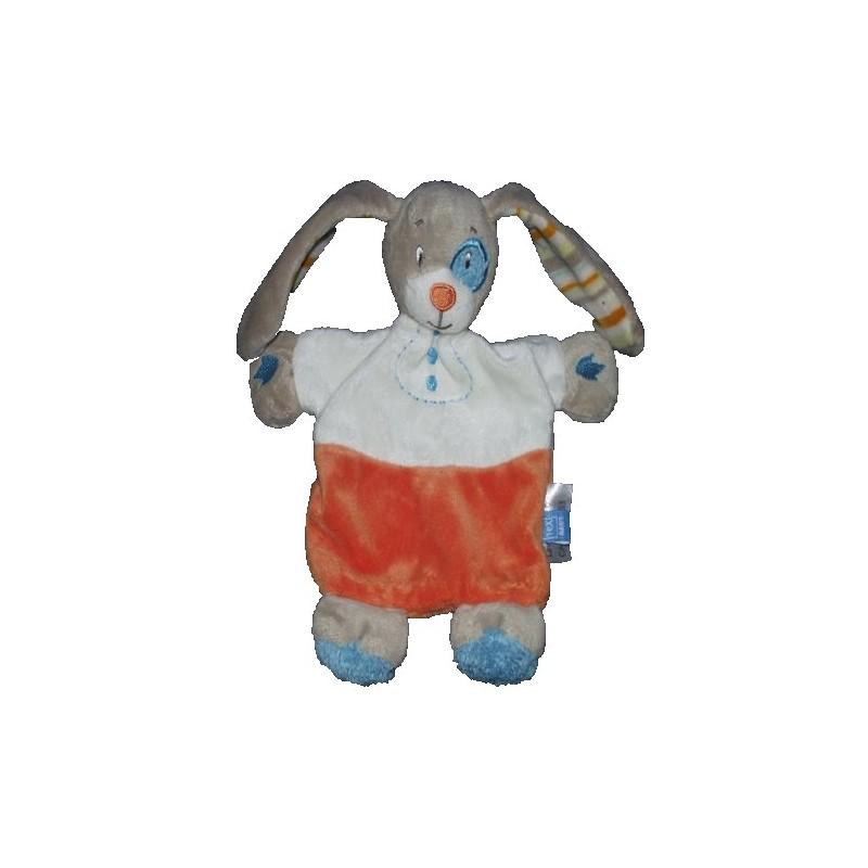 Accueil Tex Doudou Tex Chien Orange cocard bleu plat