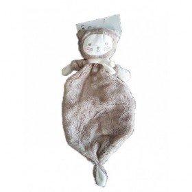 Accueil Tex Doudou Tex Chat Marron nœuds foulard blanc plat