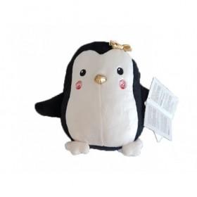 Accueil Tex Doudou Tex Pingouin Noir nœud dore Pantin