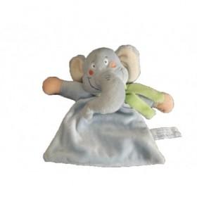 Accueil Z'autres marques Doudou Charly and co Elephant Bleu foulard vert plat