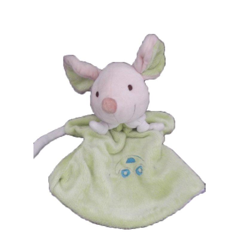 Accueil Z'autres marques Doudou Playkids Souris Vert blanche Marionnette