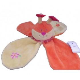 Accueil Z'autres marques Doudou Catimini Ours Orange abeille petale fleur  plat