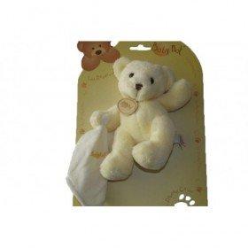 Accueil Babynat doudou Babynat Ours Blanc mouchoir blanc BN3532 Les Douceurs Pantin