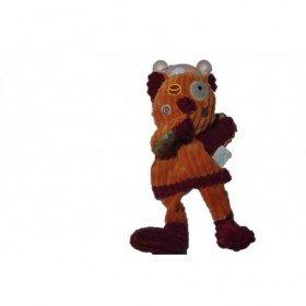 Accueil Babynat doudou Babynat Chat Orange patchwork BN683 Les Coteles Marionnette