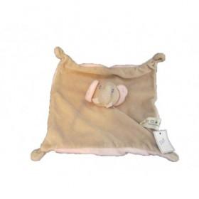 Accueil Z'autres marques Doudou Auchan Elephant Gris oreille rose  Plat