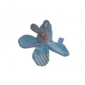 Accueil Babynat doudou Babynat Lapin Bleu Douceur Flower Plat