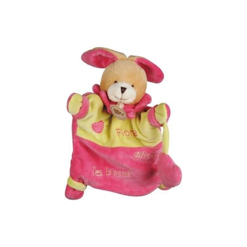 Accueil Babynat doudou Babynat Lapin Rose Fiona adore les bisous cœur BN698 Adore Marionnette