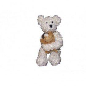 Accueil Z'autres marques Doudou Vertbaudet Chien Blanc bouclette tenant un chien beige Pantin