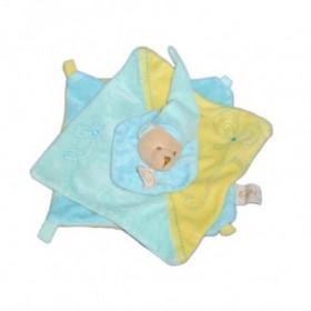 Accueil Babynat doudou Babynat Ours Bleu spirale fleur Spirale Plat